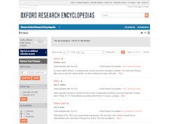 Oxford Research Encyclopedias database screenshot